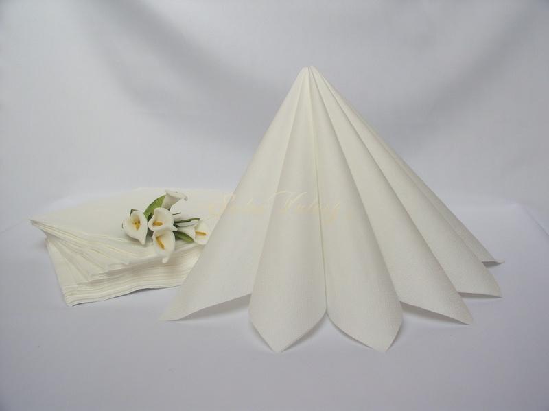 Ubrousek dvouvrstvý 33x33 cm - bílý