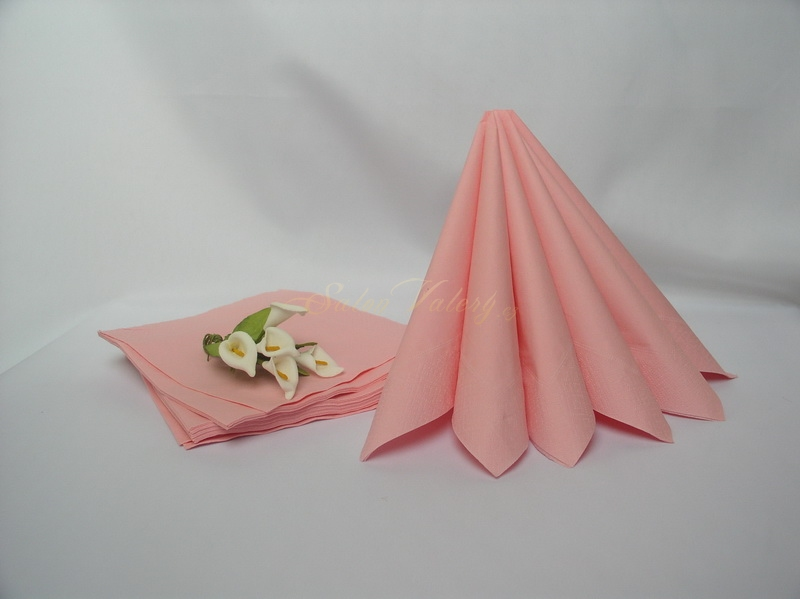 Ubrousek dvouvrstvý 33x33 cm - růžový