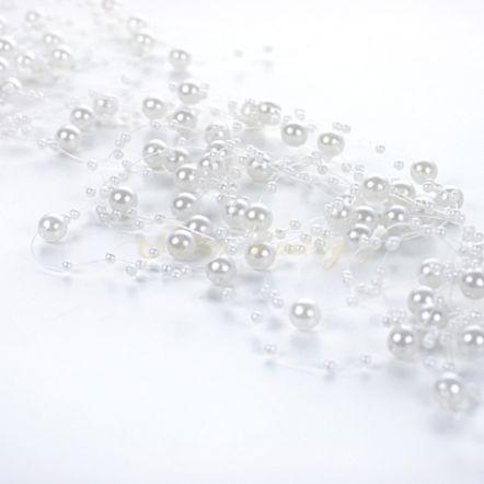 Perličky na vlasci - bílá