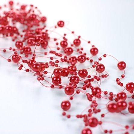 Perličky na vlasci - červená