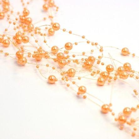 Perličky na vlasci - oranžová