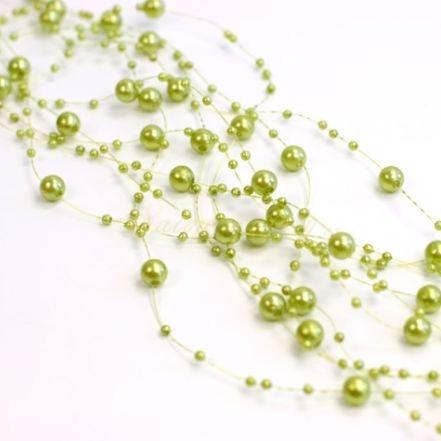 Perličky na vlasci - světle zelená