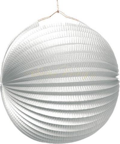 Lampion 25 cm - bílý