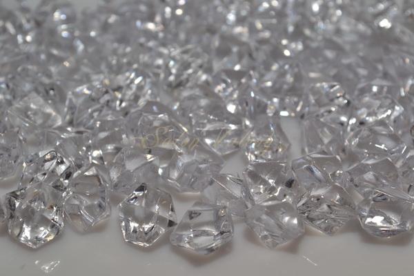 Dekorační krystalky 14 mm - čirá