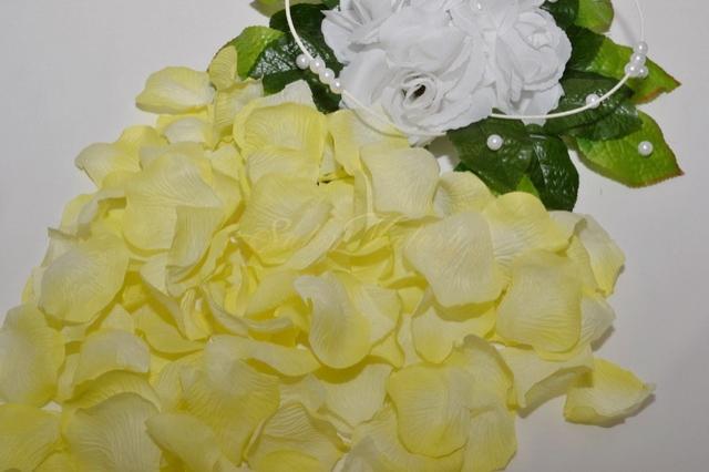 Okvětní plátky růží - žlutá