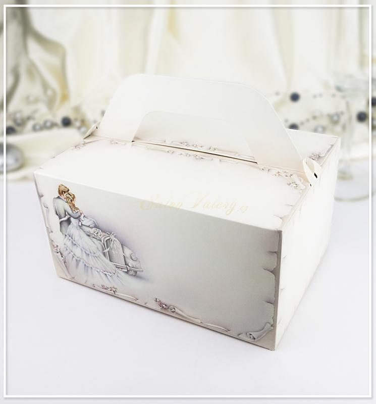 Svatební krabička na výslužku K820 - motiv novomanželů