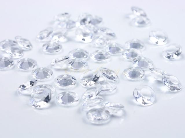 Dekorační diamanty - čirá