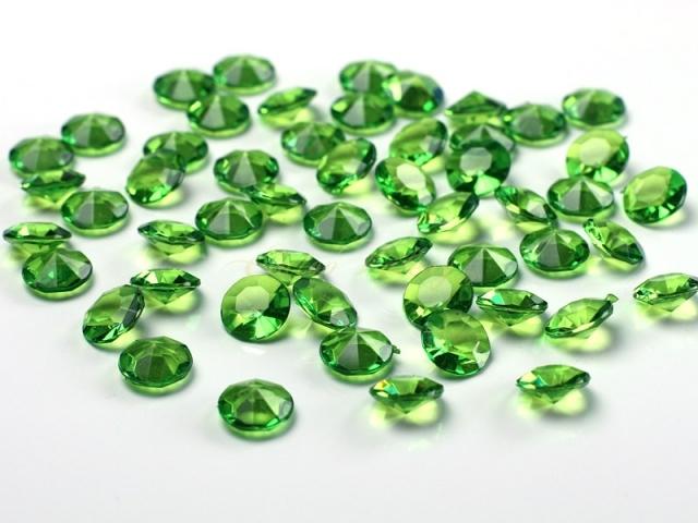 Dekorační diamanty zelené