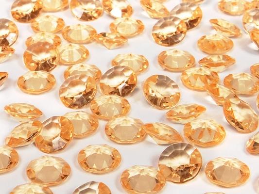 Dekorační diamanty - zlatá