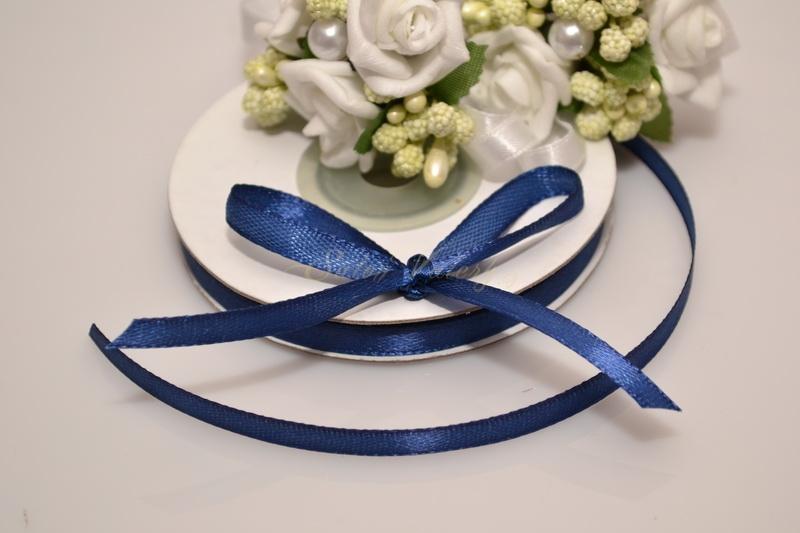 Saténová stuha 6 mm x 25 m - královská modrá