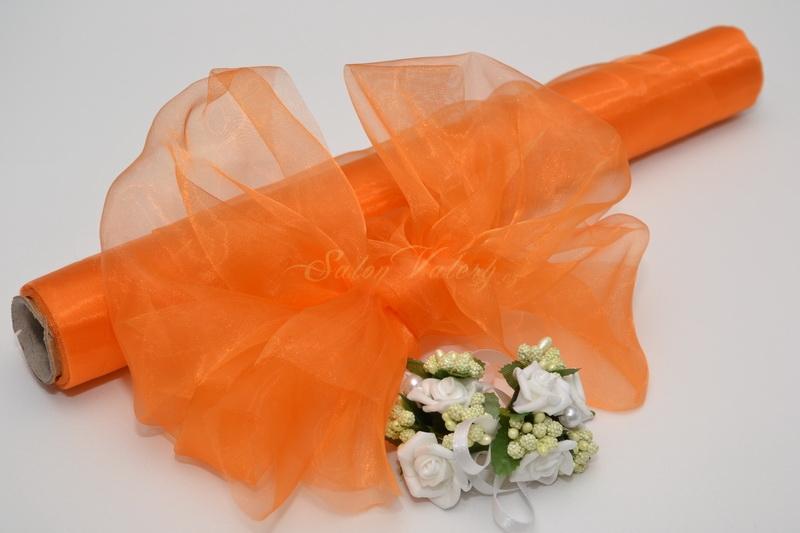 Organza 36 cm x 9 m - oranžová