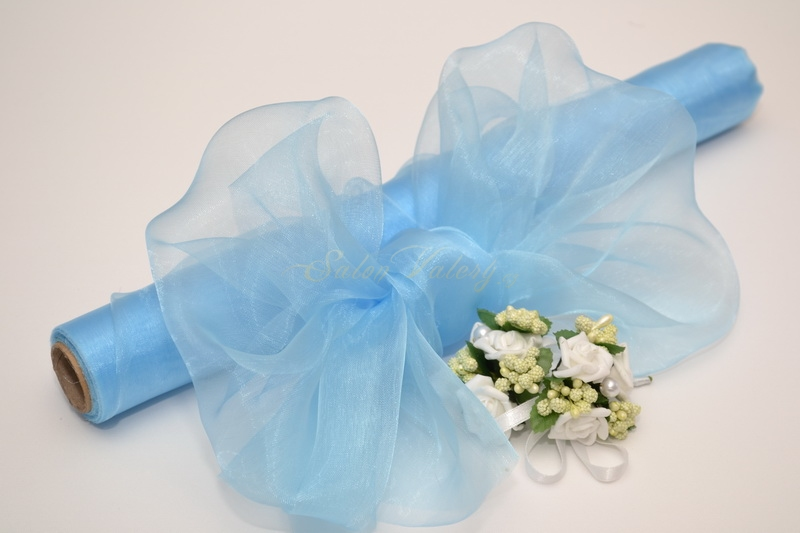 Organza 36 cm x 9 m - bledě modrá