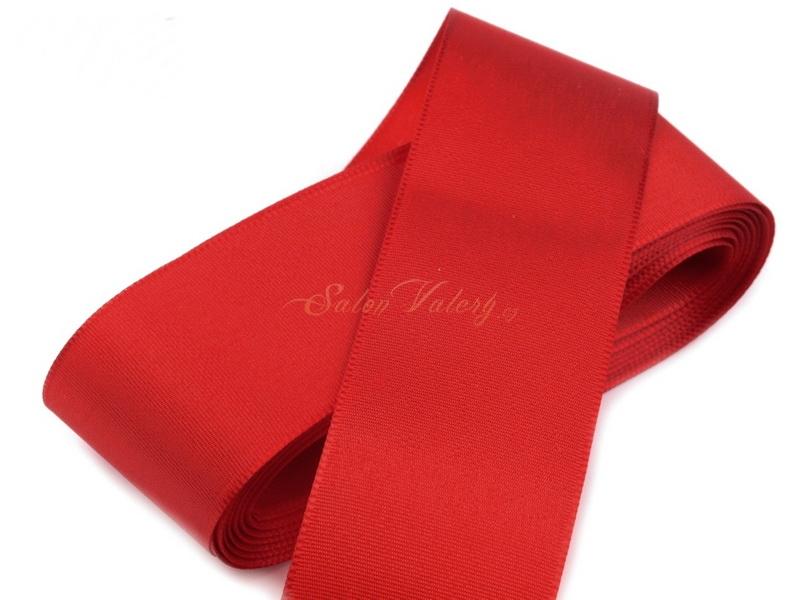 Taftová stuha 40 mm x 10 m  - červená