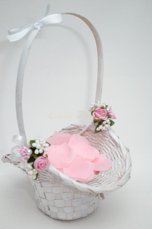 Košíček pro družičky s plátky - růžový