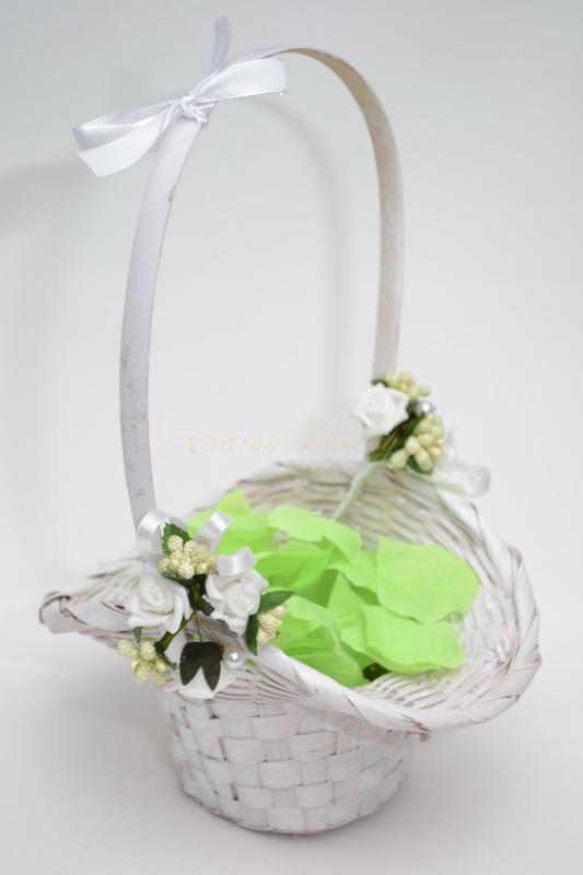 Košíček pro družičky s plátky - zelený