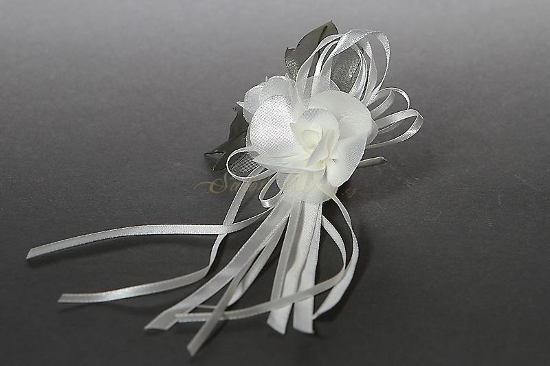 Svatební krémový vývazek/vonička P02