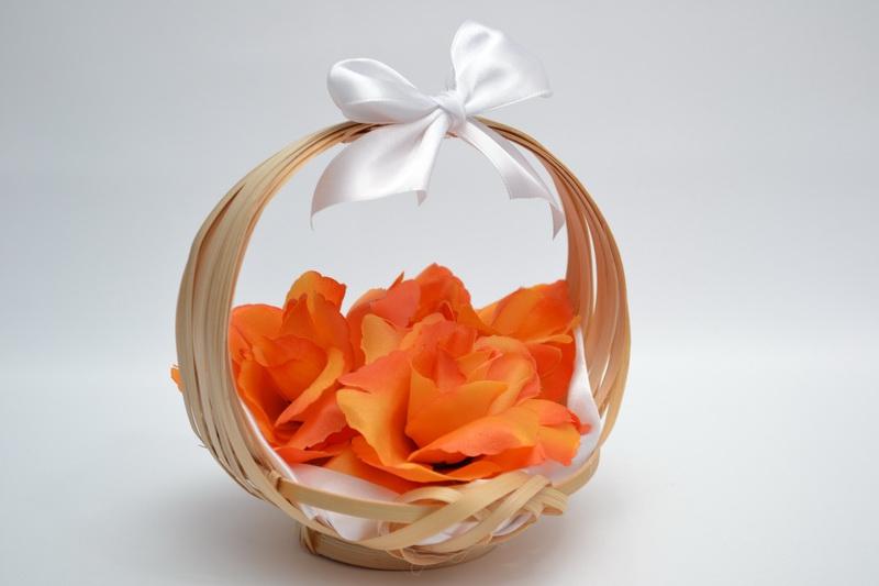 Košíček pro nejmenší družičky - oranžový