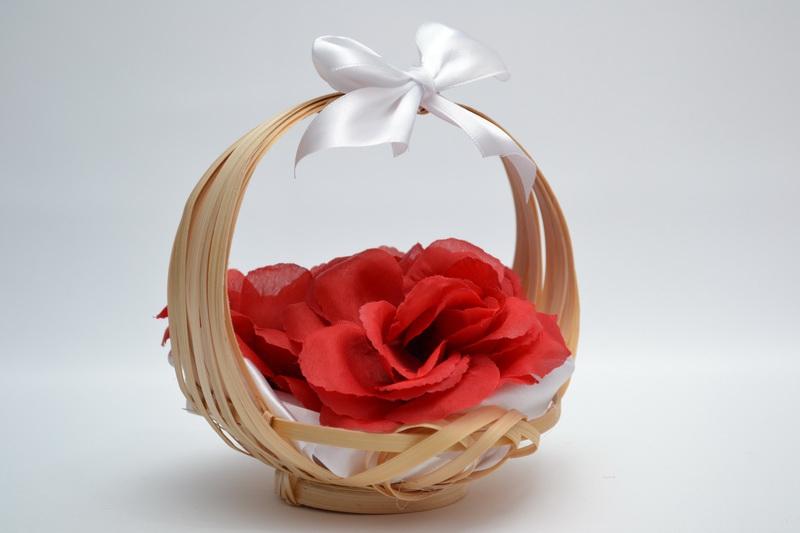 Košíček pro nejmenší družičky - červený