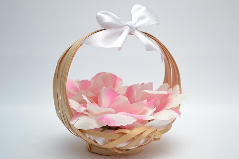Košíček pro nejmenší družičky - růžový