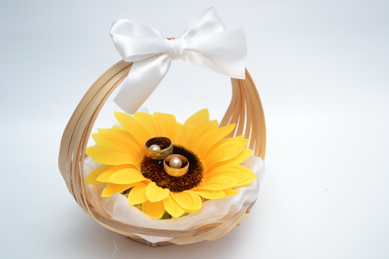 Košíček pod prstýnky - slunečnice