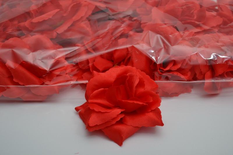 Balení samolepících růží 24 ks - červené
