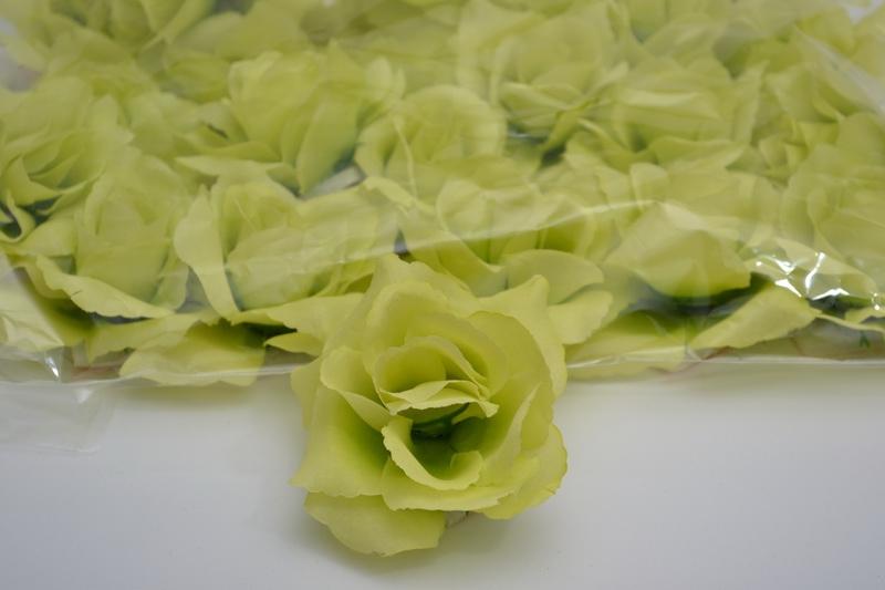 Balení samolepících růží 24 ks - zelené