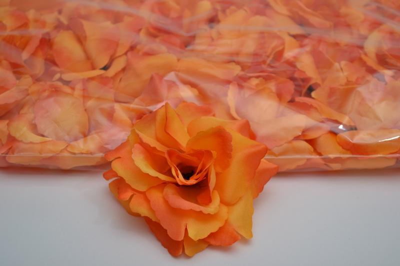Balení samolepících růží 24 ks - oranžové