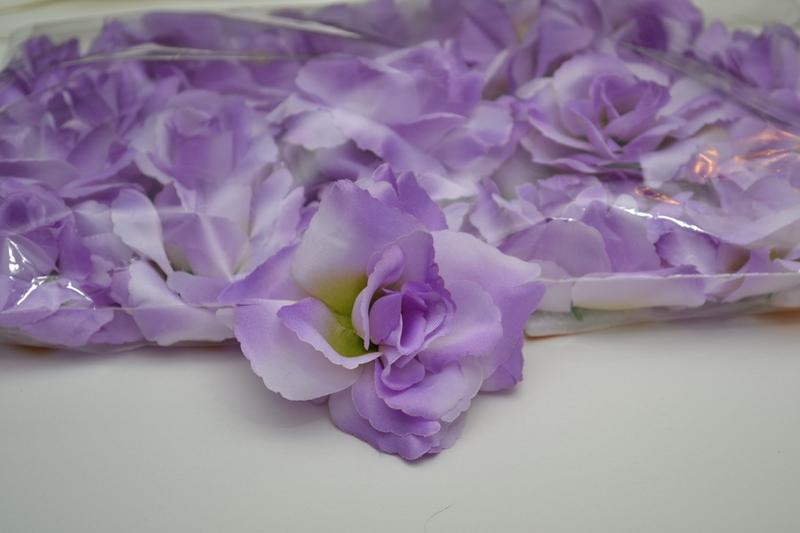 Balení samolepících růží 24 ks - fialové