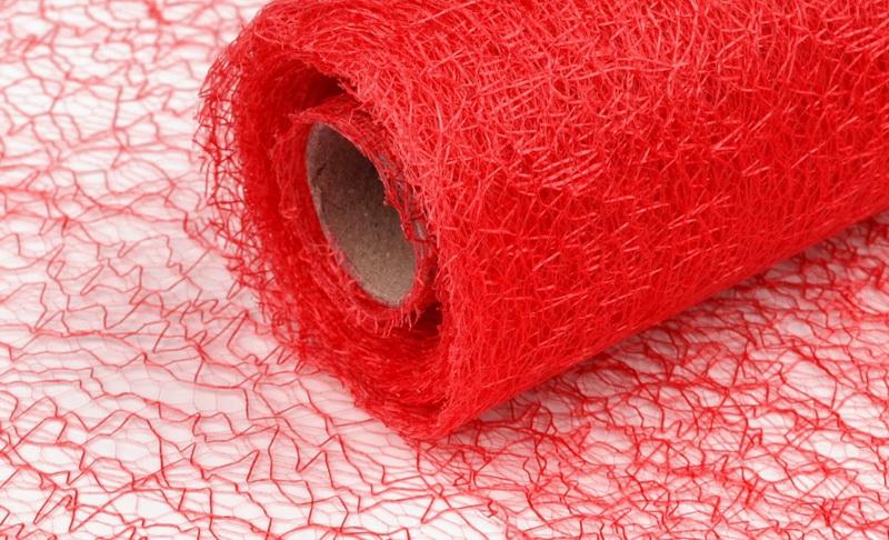 Organza pavučinka - červená