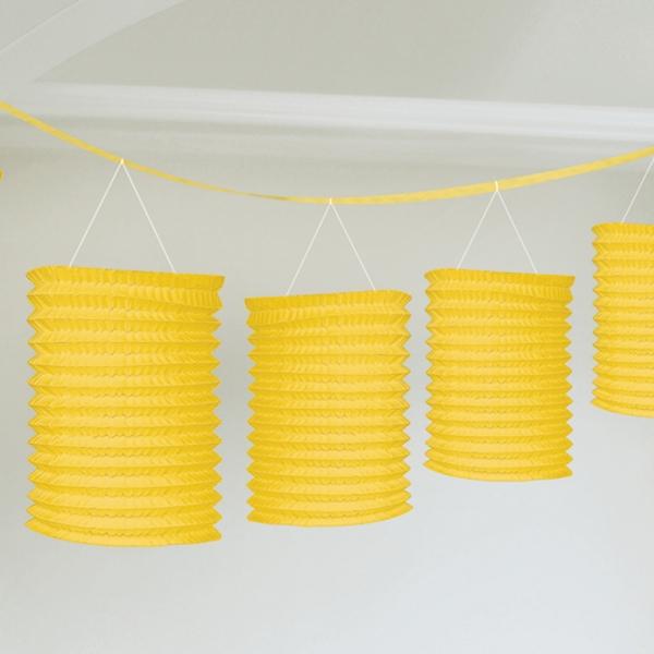 Lampiónová girlanda žlutá 3,65 m
