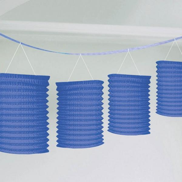 Lampiónová girlanda modrá 3,65 m