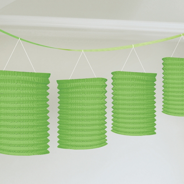 Lampiónová girlanda zelená 3,65 m