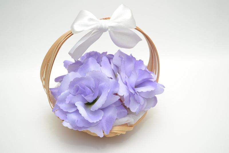 Košíček pro nejmenší družičky - fialový