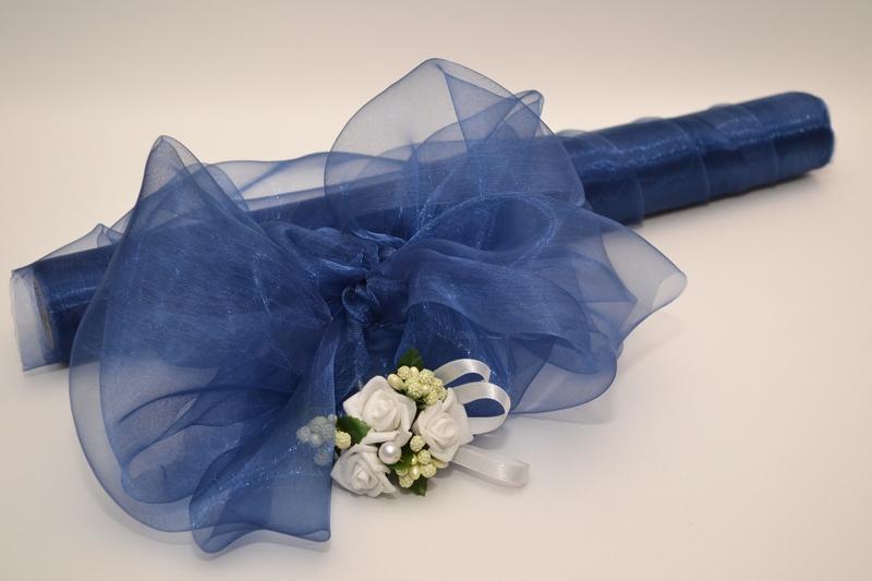 Organza 36 cm x 9 m - královská modrá