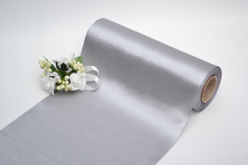 Dekorační satén - stříbrný
