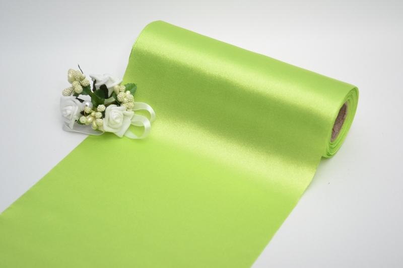 Dekorační satén - světle zelený