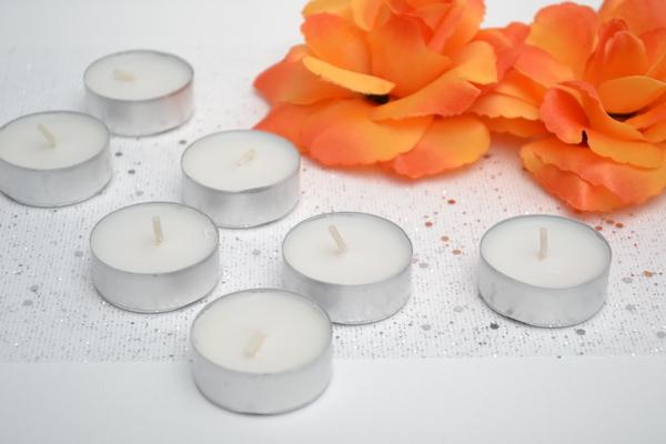 Čajové svíčky 6 ks - bílá