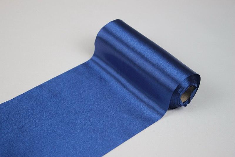 Dekorační satén - modrý