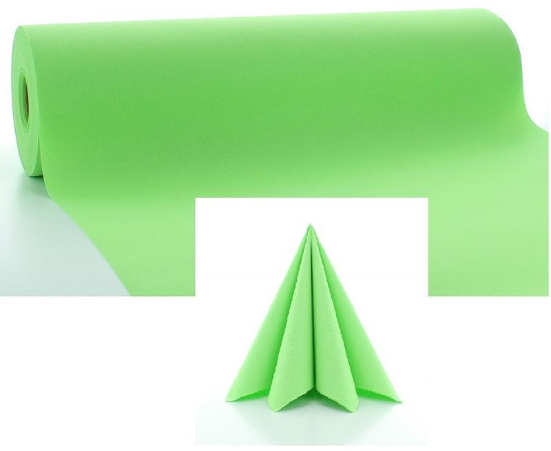 Stolová Airlaid šerpa 24 m - zelená