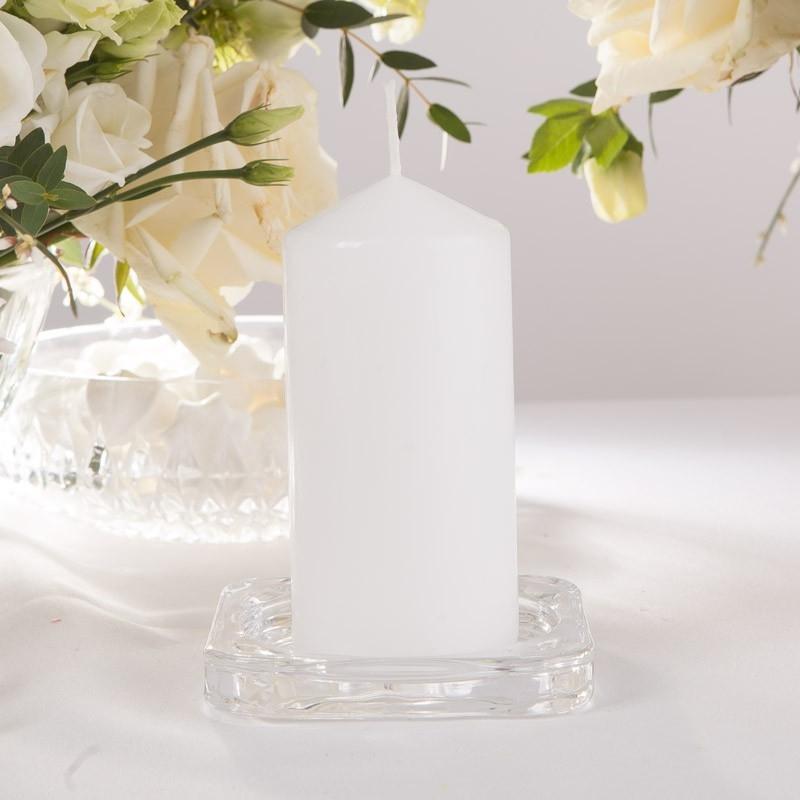 Svíčka válcová bílá