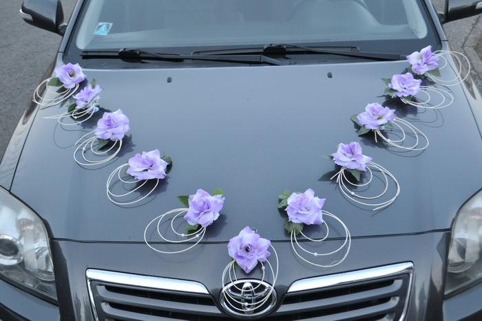 Sestava dekorací na kapotu auta