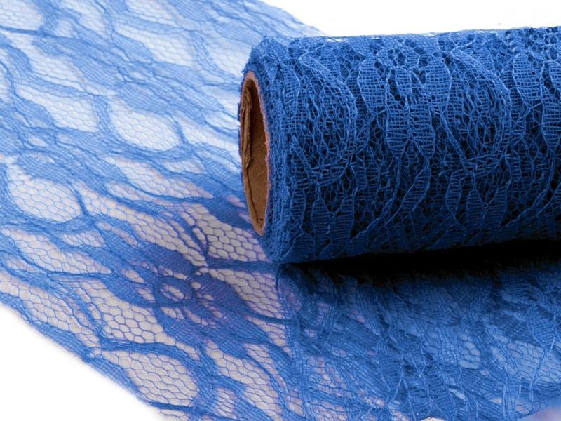 Dekorační krajka modrá