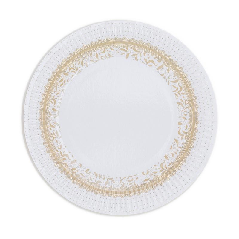 Papírové talíře (8 Ks) - krémové