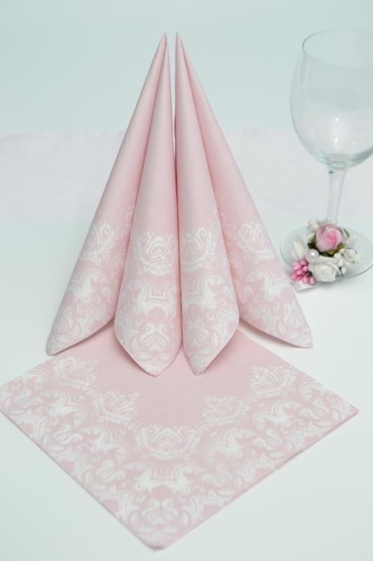 Papírové ubrousky s bílou bordurou