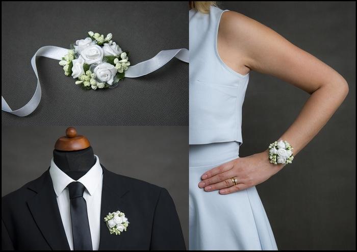 Květinové náramky a voničky 1 - bílá
