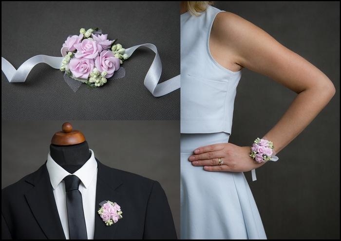 Květinové náramky a voničky 1 - růžová