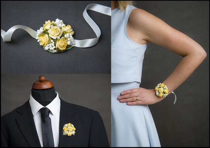 Květinové náramky a voničky 1- žlutá