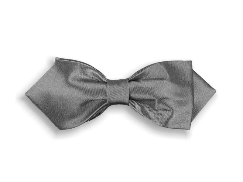 Motýlek dvojitý se špičkou - šedý