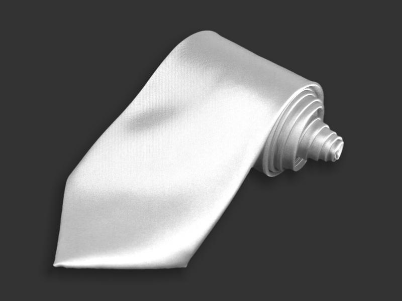 Kravata - bílá
