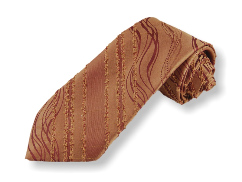 Kravata - zlatohnědá